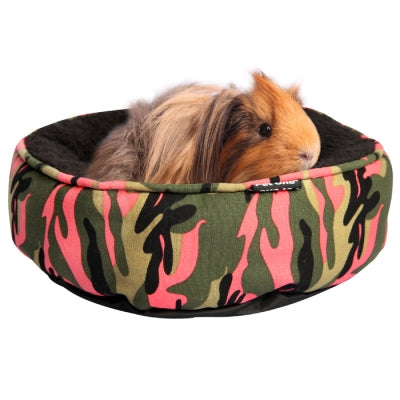PET ONE BED SML ANIMAL ROUND CAMO