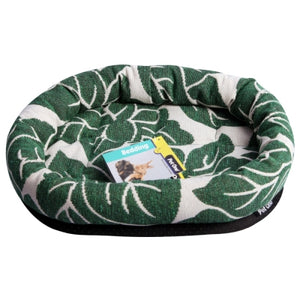 PET ONE BED SML ANIMAL LOUNGER LEAF