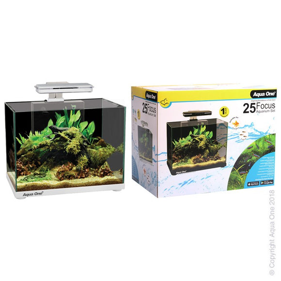 AQUA ONE FOCUS 25 AQUARIUM WHITE