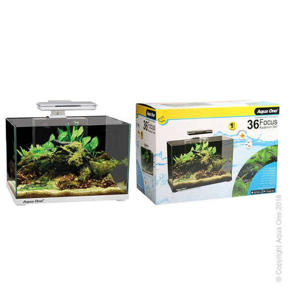 AQUA ONE FOCUS 36 AQUARIUM WHITE