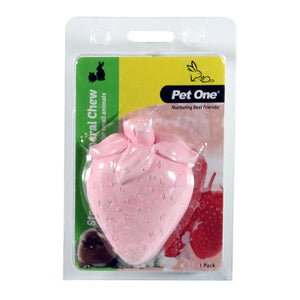 PET ONE SMALL ANIMAL MINERAL CHEW STRAWBERRY