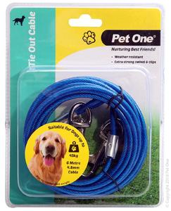 PET ONE TIE OUT CABLE 6M 4.8MM