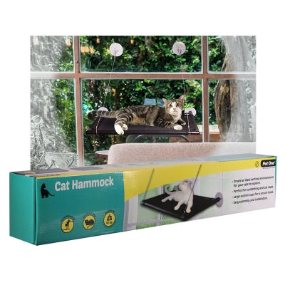 PET ONE CAT WINDOW HAMMOCK 67X40CM BLACK