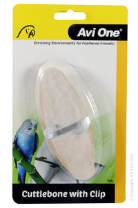 AVI ONE BIRD CUTTLEBONE WITH METAL CLIP