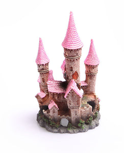 AQUA ONE ORNAMENT RUINED UNDERWATER CASTLE LARGE (PINK)