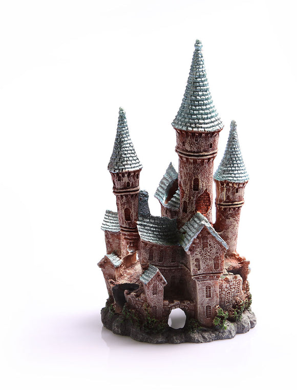 AQUA ONE ORNAMENT UNDERWATER CASTLE LARGE (BLUE)