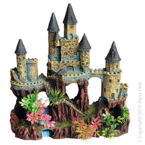 ORNAMENT CASTLE WITH RIVER & PLANT