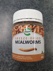 PISCES FREEZEDRIED MEALWORMS JAR 40G