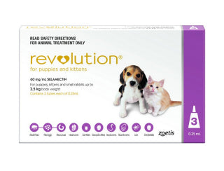 REVOLUTION PUPPY/KITTEN PINK 3PK