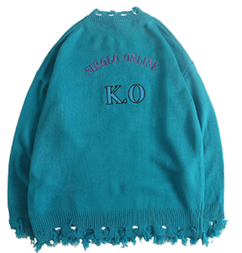 >> KNOCKOUT >> DISTRESSED SWEATER
