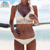 Tribal white Bikini Set