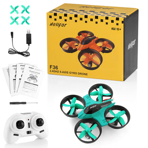 F36 Mini 6 Axis Gyro RC Quadcopter With Headless Mode Speed Switch