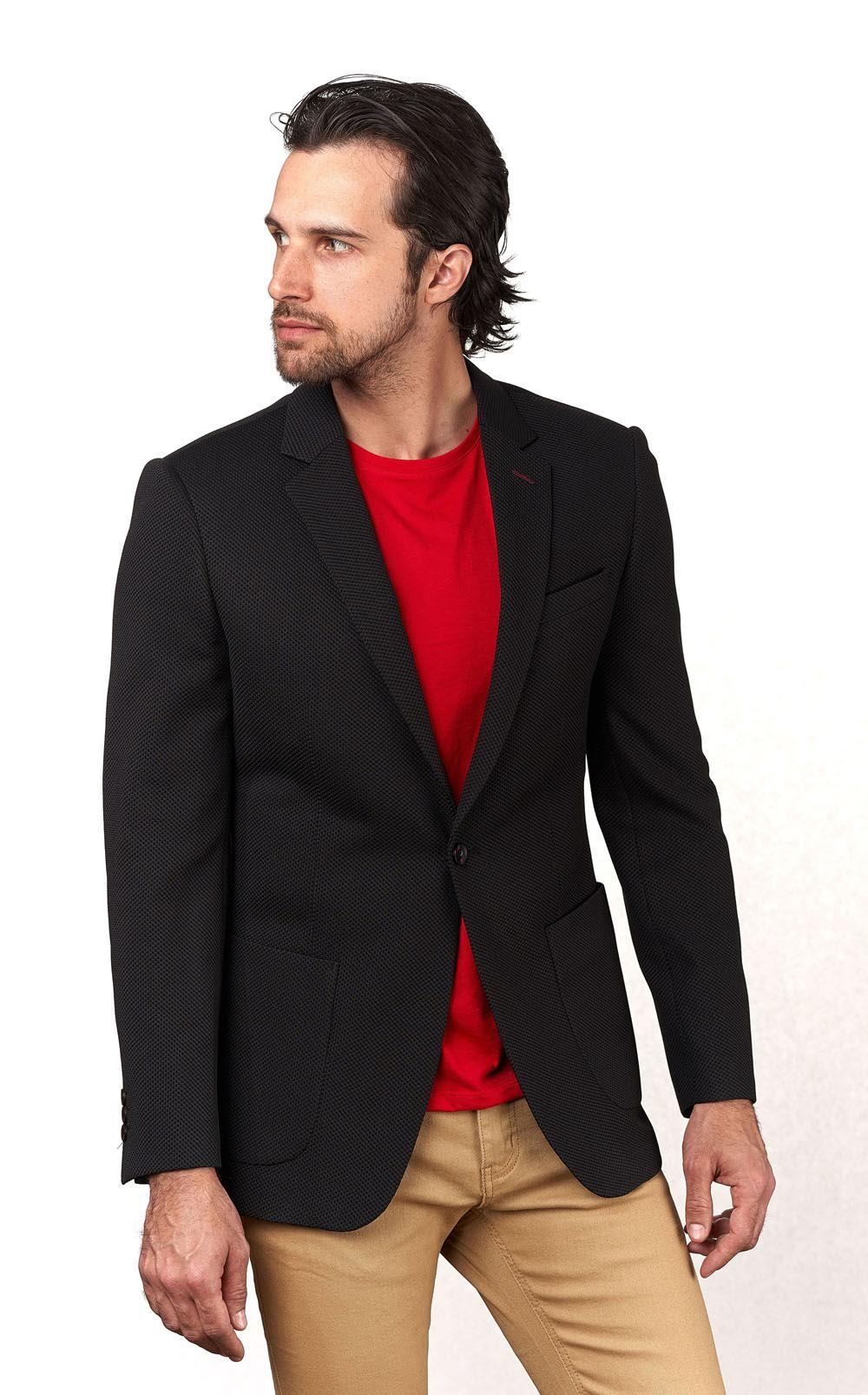 Black Knitted Sport Coat