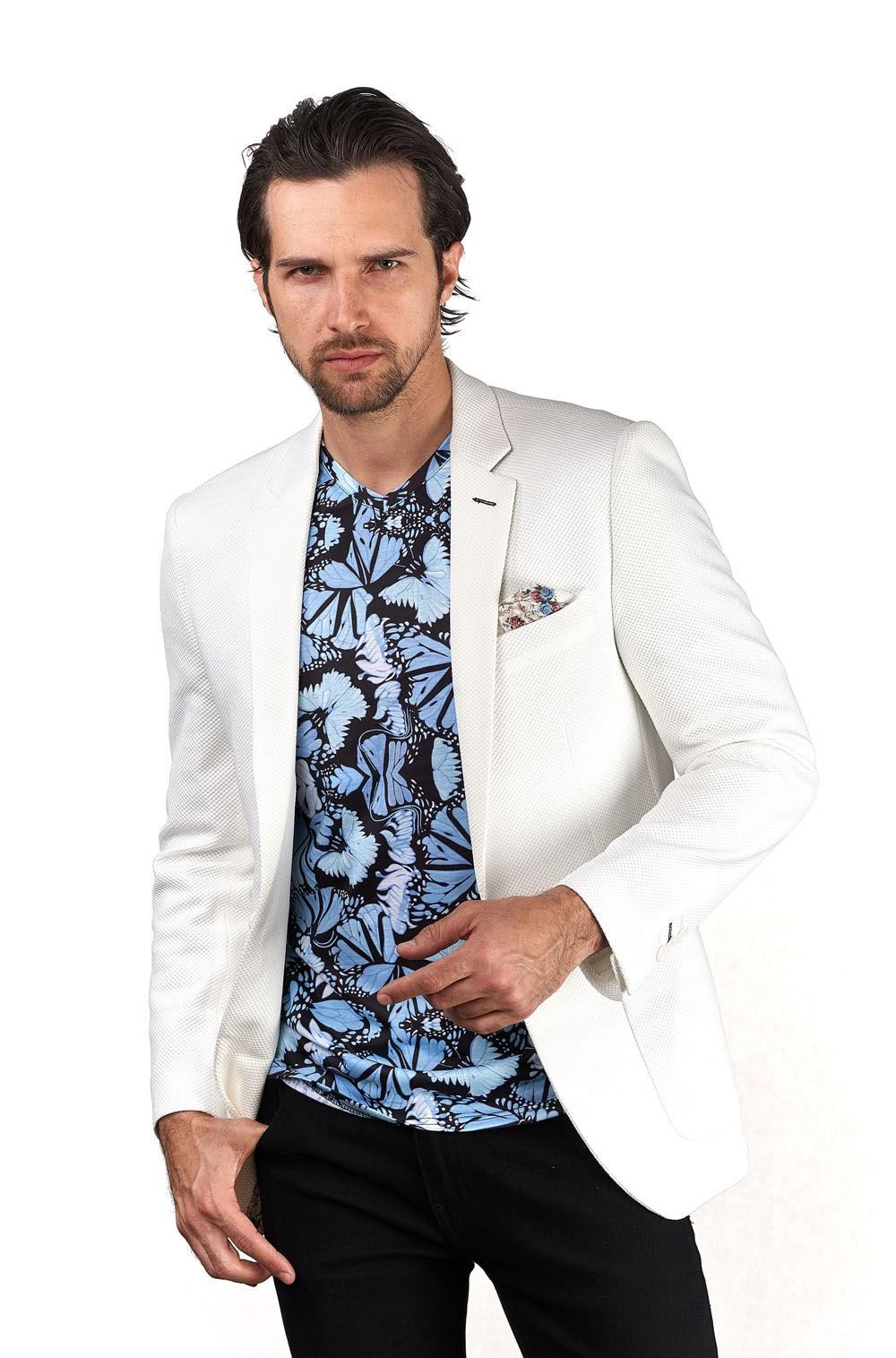 White Knitted Sport Coat