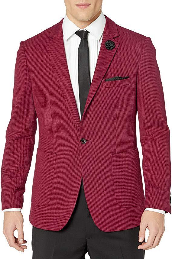 Wine Knitted Sport Coat