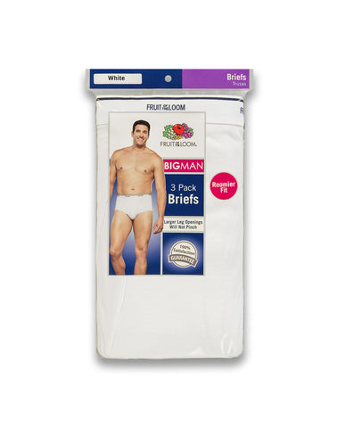 Big and Tall White Brief (3 Pack)