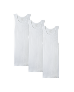 GRANA 3 Pack Men's White A-Shirt