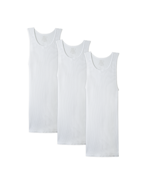 Big and Tall A-shirt White (3 Pack)