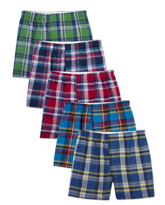 Men's Boxer Plaid (5 Pack)