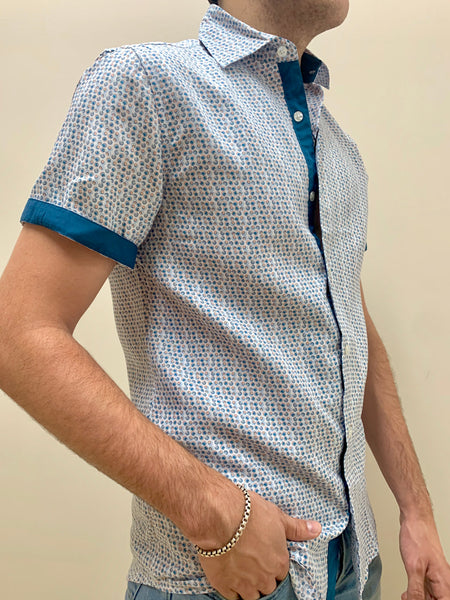 WHIRL | SHORT SLEEVE BUTTON DOWN SHIRT
