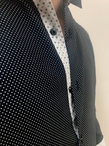 BLACK POLKA DOT | LONG SLEEVE BUTTON DOWN SHIRT