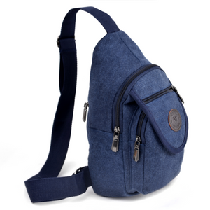 Navy Crossbody Canvas Sling Bag