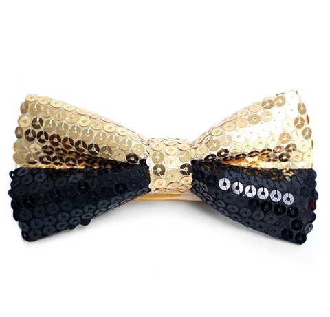Dual Color Sequin Bow Tie
