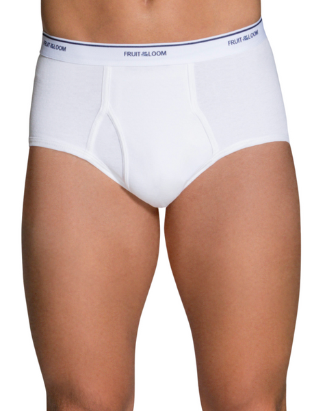 Fruit of the Loom - 6 Pack Men's Classic White Briefs