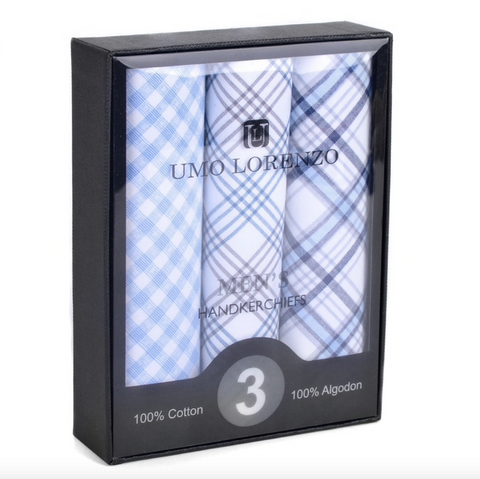 Men's Boxed Cotton Handkerchiefs
