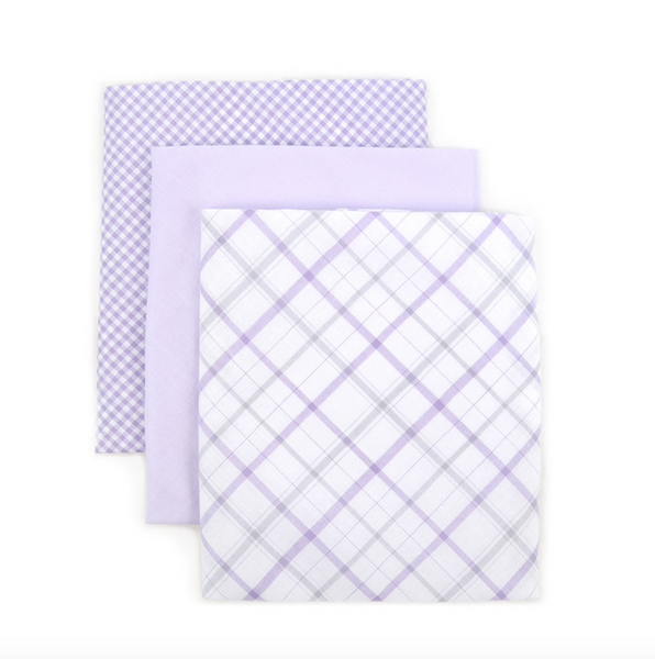 Men's Cotton Solid & Plaid Handkerchiefs