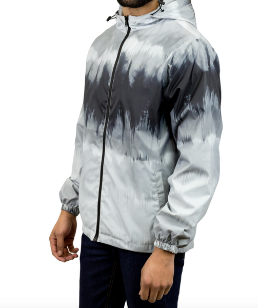Tie-Dyed Windbreaker Jacket