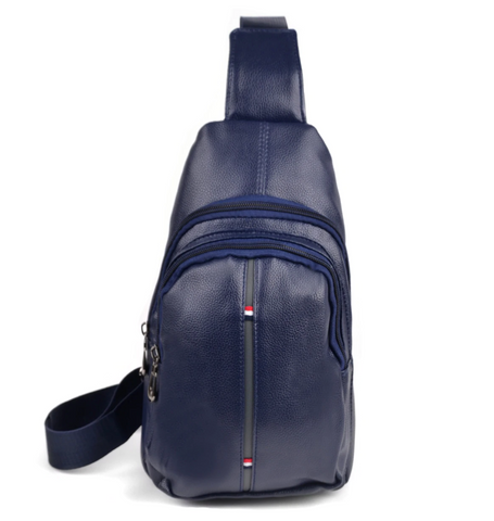 Navy Crossbody Leather Bag
