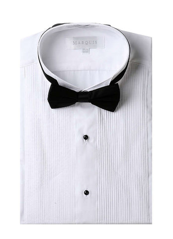 Tuxedo Shirt with Bow Tie Plus