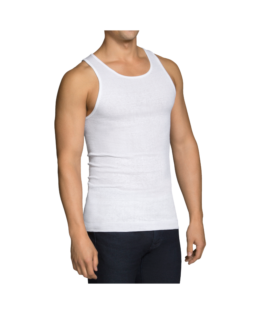Men's A-shirt White (6 Pack)