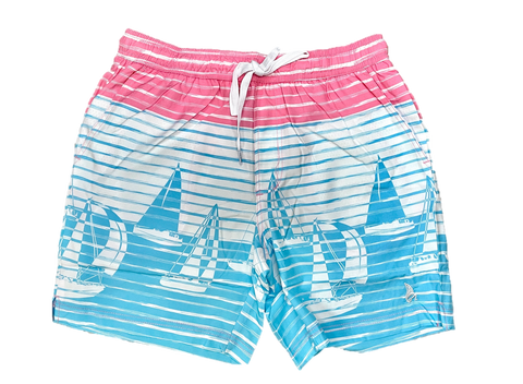 Big Sail Boats Swim Shorts