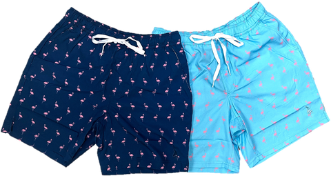 Plus Size Flamingo Swim Shorts