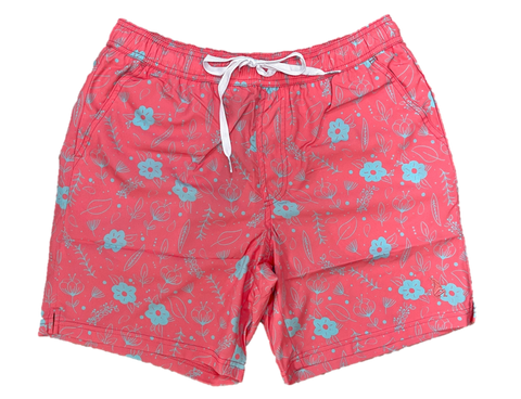 Coral Flowers Swim Shorts