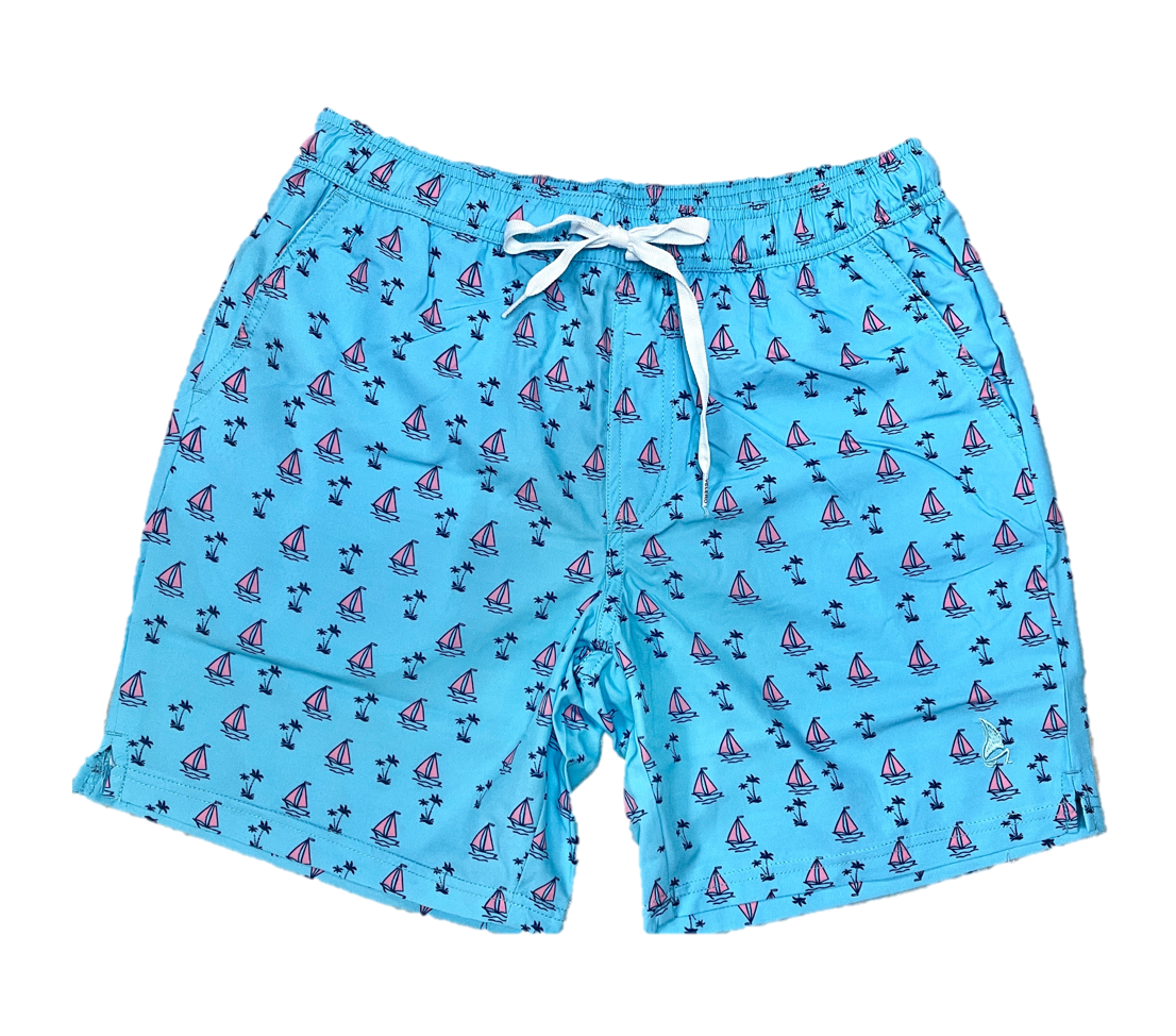 Sail Boats Swim Shorts