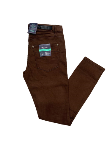 Velero Skinny Fit Brown Pant