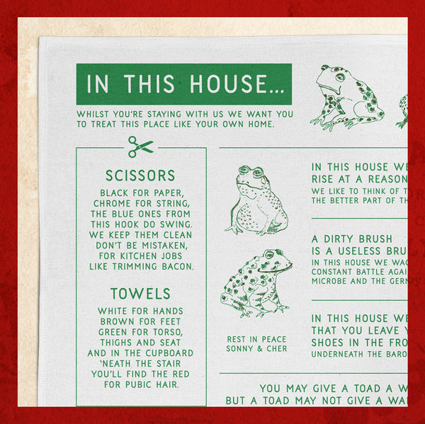 Harvey Denton's Tea Towel