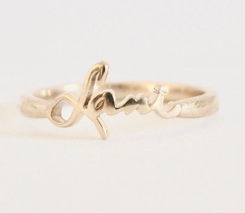 Huxley Custom Baby Name Ring