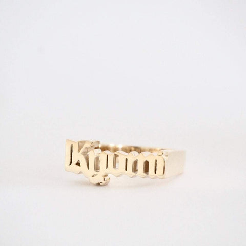 Mens Custom Baby Name Ring