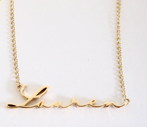 Petite Name Necklace