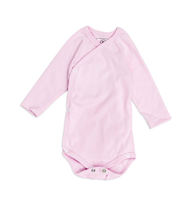 Baby Wickelbody Organic Cotton Langarm winter-weiß