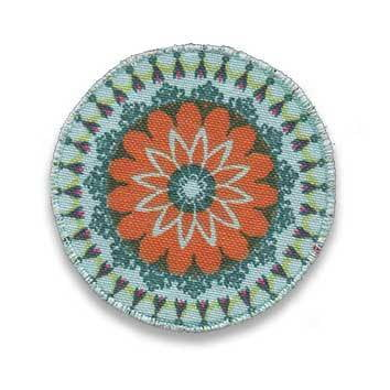Mandala 2 türkis-orange - sticklett - online store