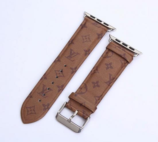 LL leather strap, Apple watch strap, monogram band, Apple Watch 42 mm/ 38 mm,