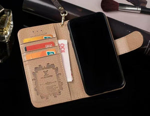 leather wallet iPhone case for iPhone 11 Pro Max 6/6s/7/8plus iPhone Xs max(Need You Select Size)