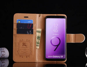 for Samsung galaxy s10/galaxy s9 Plus/S8/S8 Plus/Note 10+/9/8 leather wallet Phone case