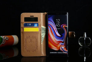 for Samsung galaxy s10+E/galaxy s9 Plus/S8/S8 Plus/Note 10+/9/8 leather wallet Phone case