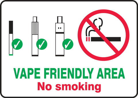 Vaping friendly area